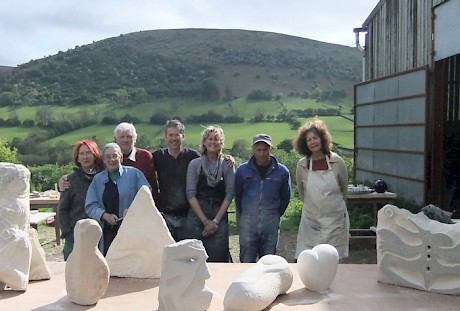 Llanthony Art - Sculpture - Stone Carving Group Outside